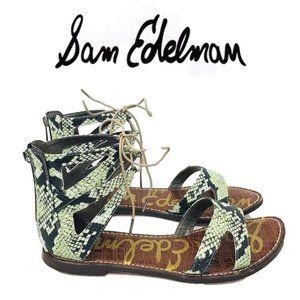Sam Edelman Gwenna Snake Print Gladiator Sandals